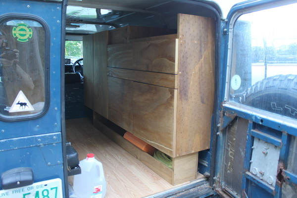 Cabinets in the Defender