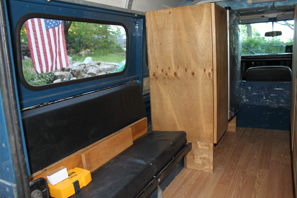 Defender cabinets and bench